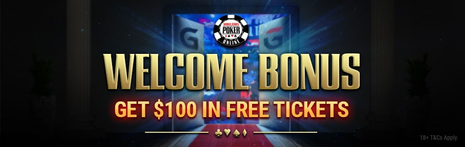 WSOP Welcome Bonus banner